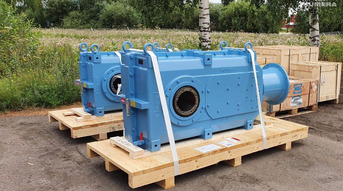 Kumera Drives for Material Handling. Kumera Material Handling Helical and Bevel-helical gear unit series for all conveyor applications.